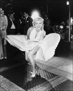 "Marilyn Monroe in the movie ""The Seven Year Itch"" (1955)"