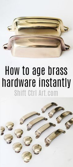 How to age #brass hardware instantly