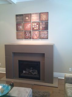 concrete fireplace surround by dreamcast design and production