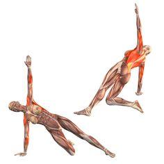 Half side plank pose on right hand - Vasisthasana half right - Yoga Poses | YOGA.com