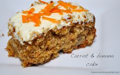 The wholesome carrot and banana cake is perfect for using up bananas on the turn. Its moist and light so perfect with an afternoon cup of tea!