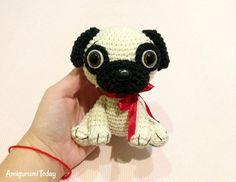 Baby Pug Dog amigurumi pattern by Amigurumi Today