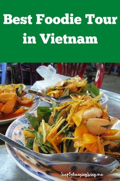 The Foodie Tour is designed to give tourists a unique experience and to show the true culture of Vietnam.  While a lot of the other Vietnam food tours focus on popular dishes such as Pho, Vietnamese pancakes, and spring rolls (which are all wonderful) – the Foodie Tour focuses on street food dishes that most tourists have not had before. #Vietnam #FoodieTour #SimplyAmazingLiving #bestfoodinvietnam #whattodoinvietnam