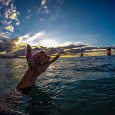 @_jacob_inglis_  takes a sneaky #Shaka shot as the sun sets over the ocean. #GoPro #GoProANZ