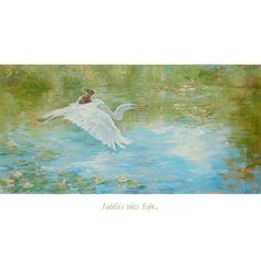 ISABELLA  takes flight Print  digital print door PaintedMoonGallery