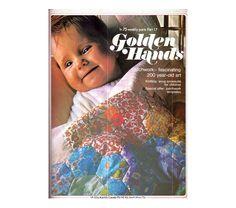 Genuine Vintage 1970s Golden Hands 17 Comprehensive Crafts Magazine lookx