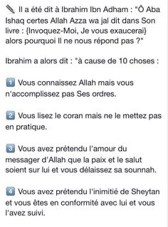 Les 10 causes que tes invocations son pas exaucées Muslim Quotes, Islamic Quotes, What Is Islam, Coran Islam, Best Quotes Ever, Thing 1, Ramadan, Quran, Religion