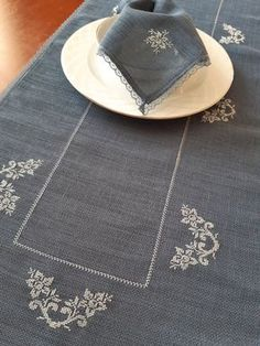 Items similar to Embroidered Christmas Blue Table Runner Napkin ,Cross Stitch Table Runner Gift For Noel,Christmas Guest Table Decor,Cross Stitch Tablecloth on Etsy - Kreuzstich Cute Gifts For Friends, Wedding Table Linens, Wedding Decor, Wedding Gifts, Handmade Table, Handmade Gifts, Gifts For Runners, Crochet Amigurumi, Primitive Christmas