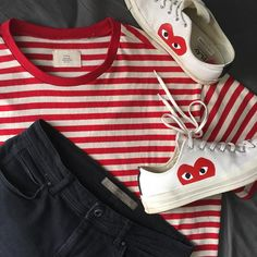 "Fear Of God Striped Shirt x Comme des Garcons PLAY x Converse Chuck Taylor Low ""Hidden Heart"""