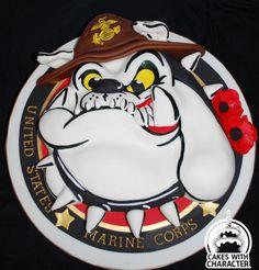 United States marine Corp mascot - Cake by momschap