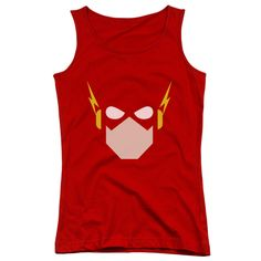 Behold the Flash - Flash Head Junior Tank Top. Now you can be part of the hype with this red colored, officially licensed junior tank top made of 100% pre-shrunk cotton. This junior tank top is perfec