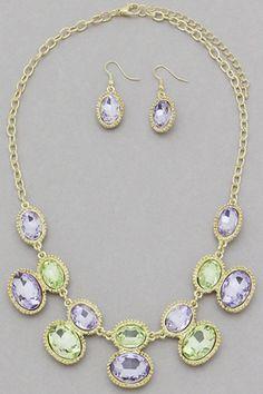 Pastel Gems Necklace Set #necklace #jewellery amusemeboutique.com