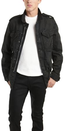 $650, Black Denim Jacket: R 13 R13 M65 Field Jacket In Black. Sold by Blue