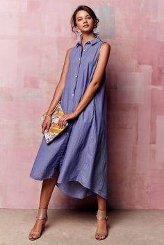 Maeve Savile Midi Dress at Tee Dress, Dress Skirt, Dress Outfits, Fashion Dresses, Denim Dresses, Women's Dresses, Anthropologie Clothing, Pretty Dresses, Spring Summer Fashion