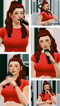 simsgami Ts4 Cc, Poses, Sims Cc, Billie Eilish, Singing, Videogames, Wicker, Animation, Animation Movies