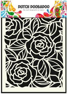 Dutch Doobadoo Dutch Mask Art stencil Big Roses A5 470.715.023 | Craft Emotions