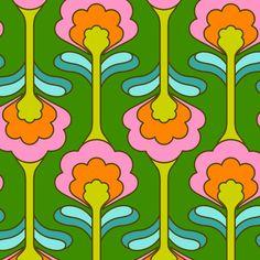 Home Decoration Inspiration Retro Pattern, Pattern Art, Pattern Design, Psychedelic Pattern, Psychedelic Art, Motif Floral, Floral Prints, Art Prints, Peter Et Sloane