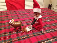 Herbie got stuck with the Dirty work today!!! Reindeer Pooper Scooper Elf on the Shelf
