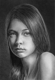 Pencil portrait of Julia by LateStarter63.deviantart.com on @deviantART