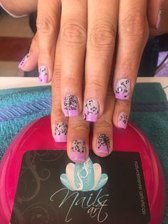 Acrylic nails, nails art, nails,
