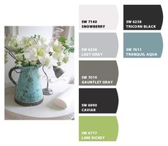Soothing grays, green & blue Paint colors from Chip It! by Sherwin-Williams