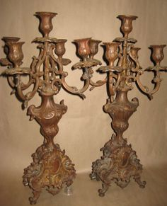 Rococo style antique candelabra