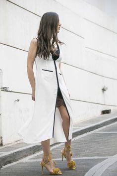 White thin dress Vassiliki Charitou