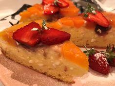 Pudingos-túrós barackos sütemény