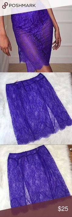 VS XL Lace Skirt See through, zipper on the side Victoria's Secret Intimates & Sleepwear
