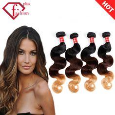 7aブラジルヴァージン髪オンブル毛4ピース/ロットブラジル実体波人間のオンブル髪織りバンドルヘアエクステンション