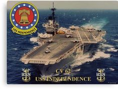 CV-62 USS Independence Canvas Print