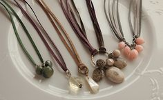 Leather Cord & Charm Necklaces