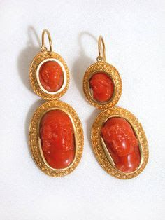 Image result for antique coral earrings