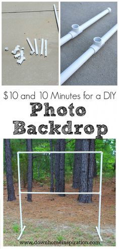 easy to make PVC pipe photo backdrop
