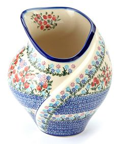 Take a look at this Wildflower Field Tulip Vase by Lidia's Polish Pottery on #zulily today!