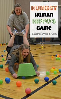 Hungry Human Hippos Game ~ Perfect for youth groups or family reunions Hungry Human Hippo Game, perfect for family reunions, youth groups or lds mutual, group games, party game ideas Indoor Games For Youth, Youth Games, Family Games Indoor, Mutual Activities, Youth Group Activities, Youth Group Crafts, Group Games For Kids, Games For Teens, Snake Games For Kids