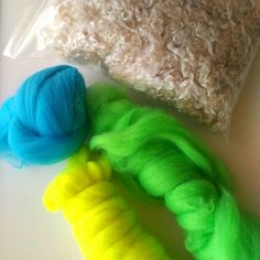 Spring mood: I bought a wool of bright flowers from New Zealand and bought curls in Germany (curls gave an English sheep :)). Now we are preparing to meet the spring :)
