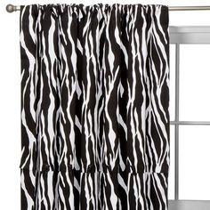 """Xhilaration® Zebra Stripe Window Panel - 54x84""""."""