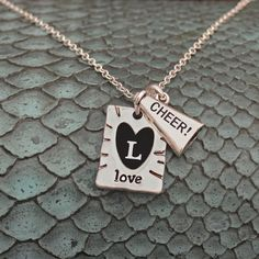 Love Cheer Necklace with custom initials // great for tournament and end of the year gifts!