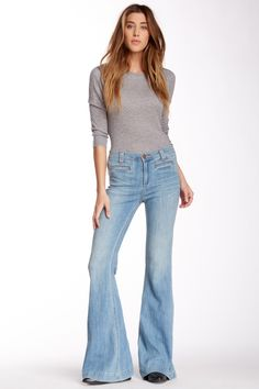 Amy High Rise Flare Jean by Dittos on @nordstrom_rack