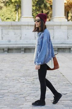 Get this look (jacket, hat, sneakers) http://kalei.do/XGqliW0Jehk3Wr5R