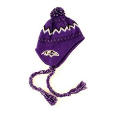 Baltimore Ravens Infant Mongolian Style Knit Winter Beanie Hat (Ages 3 Months - 1 Year) by NFL. $12.99. Embroidered Logos Over Both Ears. Knit Lined -Officially Licensed. 100% Acrylic. Size-INFANT Baby Beanie. Winter Beanie. NFL Team Apparel Infant Tassel Knit Mongolian Style Beanie Hat with Pom, Fits  Ages 3 months - 1 Year. Save 35%!