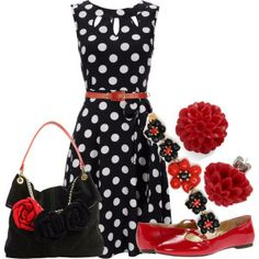 I like the dress and the shoes not crazy about the flower accessories.