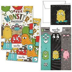 Monster Emotions Coloring Book Monster Bookmarks and Monster Gift Card -- Continue to the product at the image link.