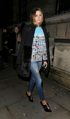 THE OLIVIA PALERMO LOOKBOOK By Marta Martins: London Fashion Week 2014 : Olivia Palermo At Matthew Williamson