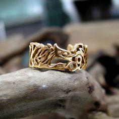 Ouroboros Ring Gold