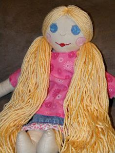 Doll I made for my oldest daughter.    http://kschoff21.blogspot.com/