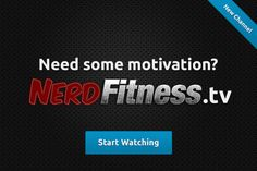 NerdFitness Blog! #fitness #paleo I love this site because it is packed with fact & research to support healthy living and fitness!!!