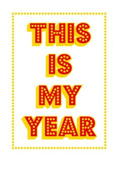 This is My Year Screenprint 117 x 165 A3 by coniLab on Etsy,
