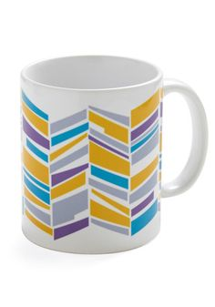 Love the pattern on this mug. I think a more random chevron like this could be a very doable DIY.